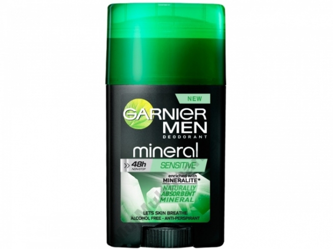 Minerální deodorant Garnier Mineral Men stick Sensitive